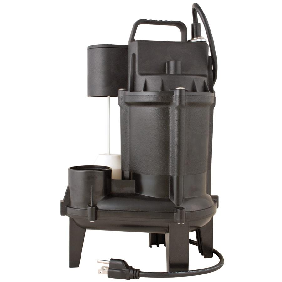 Utilitech 0.5-HP Cast Iron Sewage Sump Pump