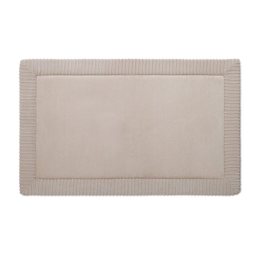 allen + roth Romanesque Border 34-in x 21-in Tan Polyester Memory Foam Bath Mat