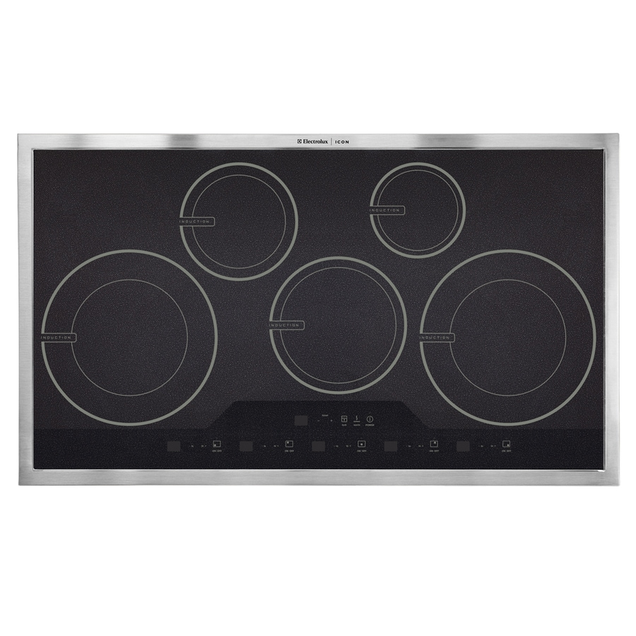 Electrolux Icon 5-Element Smooth Surface Induction Electric Cooktop (Stainless) (Common: 36-in; Actual 36.75-in)