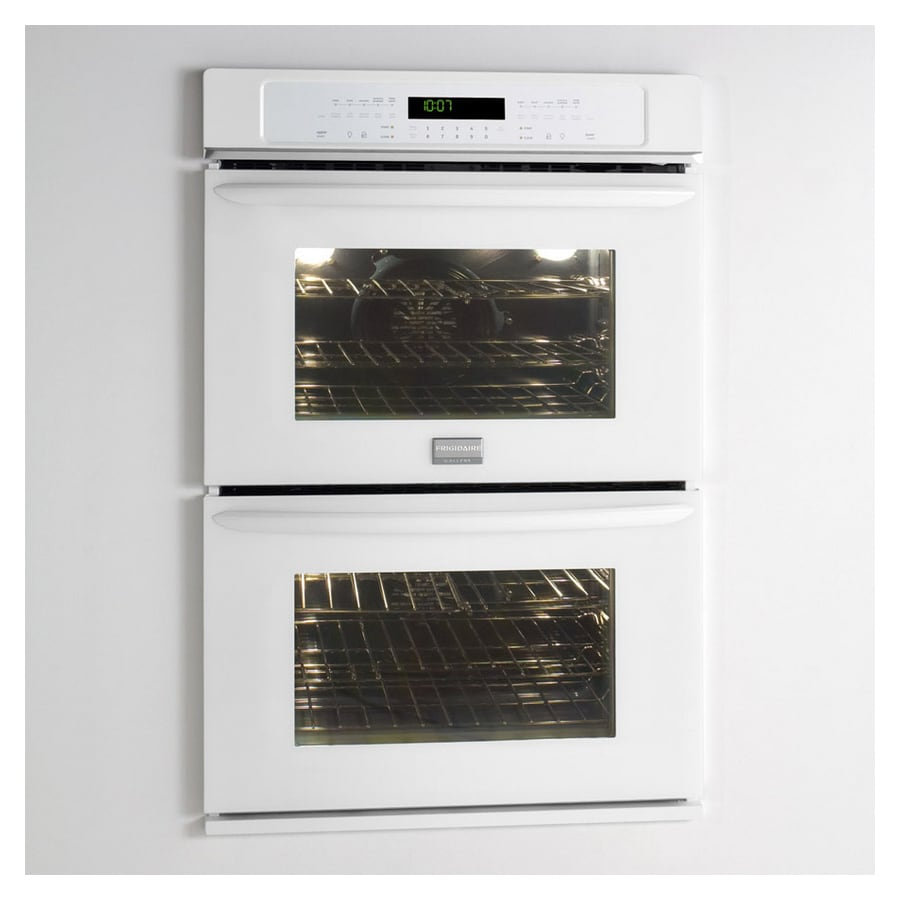 Frigidaire Gallery 27-in Self-Cleaning Convection Double Electric Wall Oven (White)