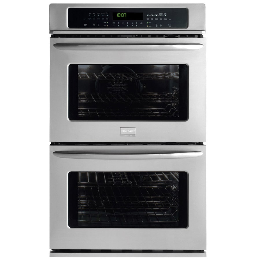 Frigidaire Gallery 27-in Self-Cleaning Convection Double Electric Wall Oven (Stainless)