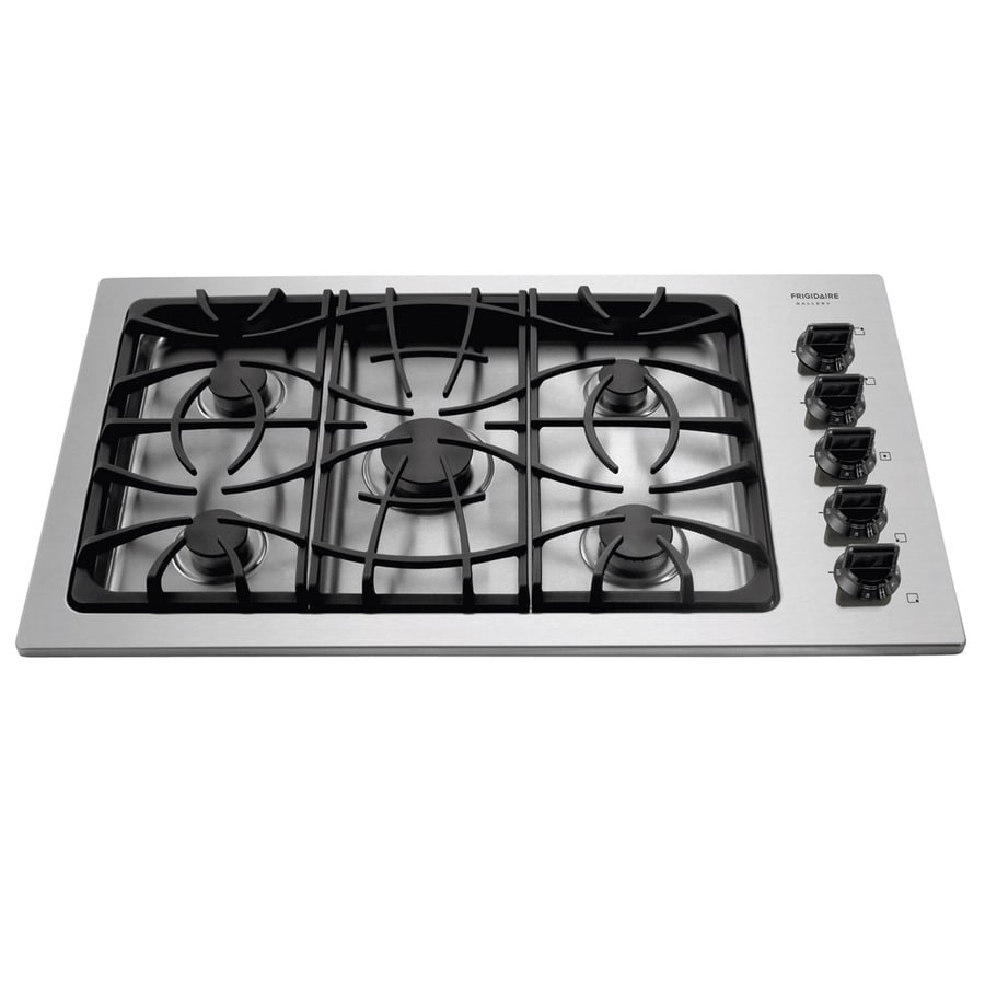Frigidaire Gallery 5-Burner Gas Cooktop (Stainless) (Common: 36-in; Actual 36-in)