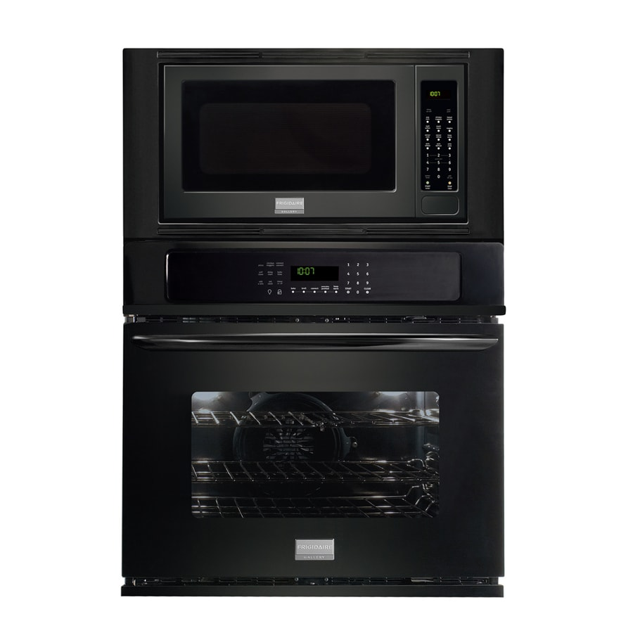 Frigidaire Gallery 27-in Self-Cleaning Microwave Wall Oven Combo (Black)