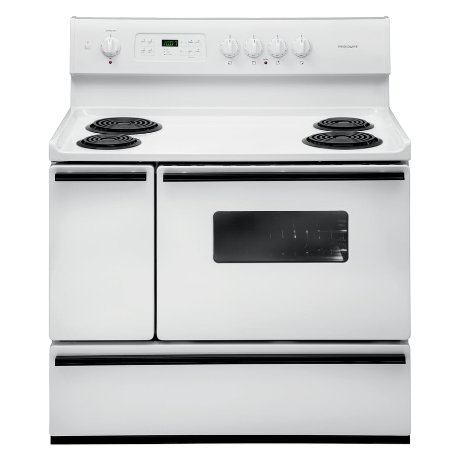 Frigidaire 40-in Freestanding 3.7-cu ft Self-Cleaning Electric Range (White)