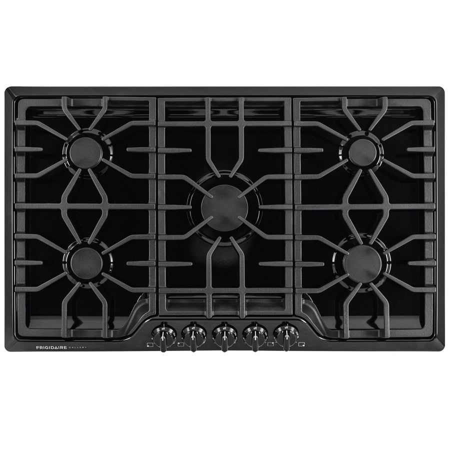 shop frigidaire 5 burner gas cooktop black common 36 in actual 36 in at. Black Bedroom Furniture Sets. Home Design Ideas