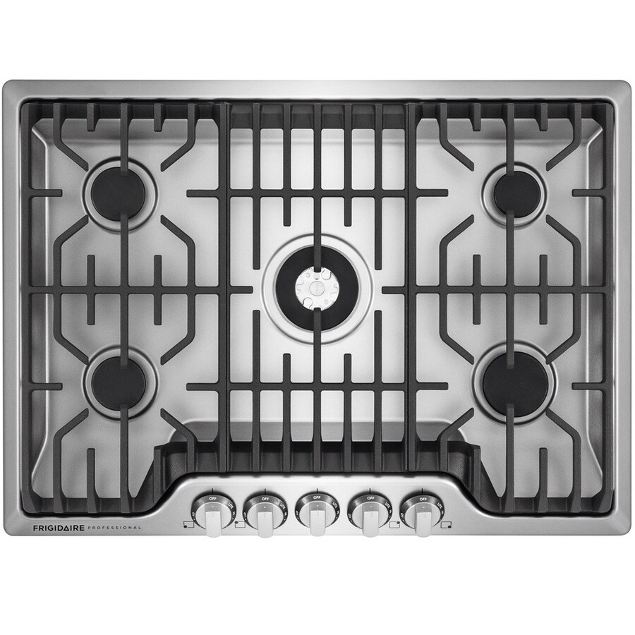 Frigidaire Professional 5-Burner Gas Cooktop (Stainless Steel) (Common: 36-in; Actual: 36-in)
