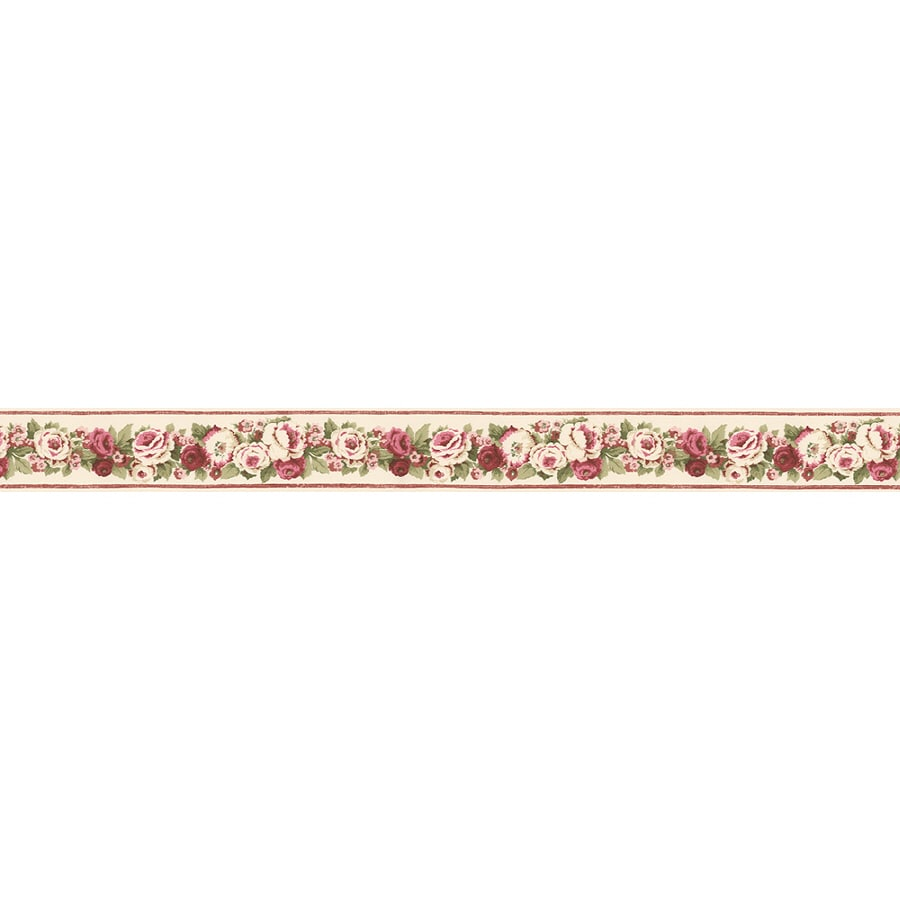 Shop norwall 3 in red prepasted wallpaper border at for Wallpaper lowe s home improvement