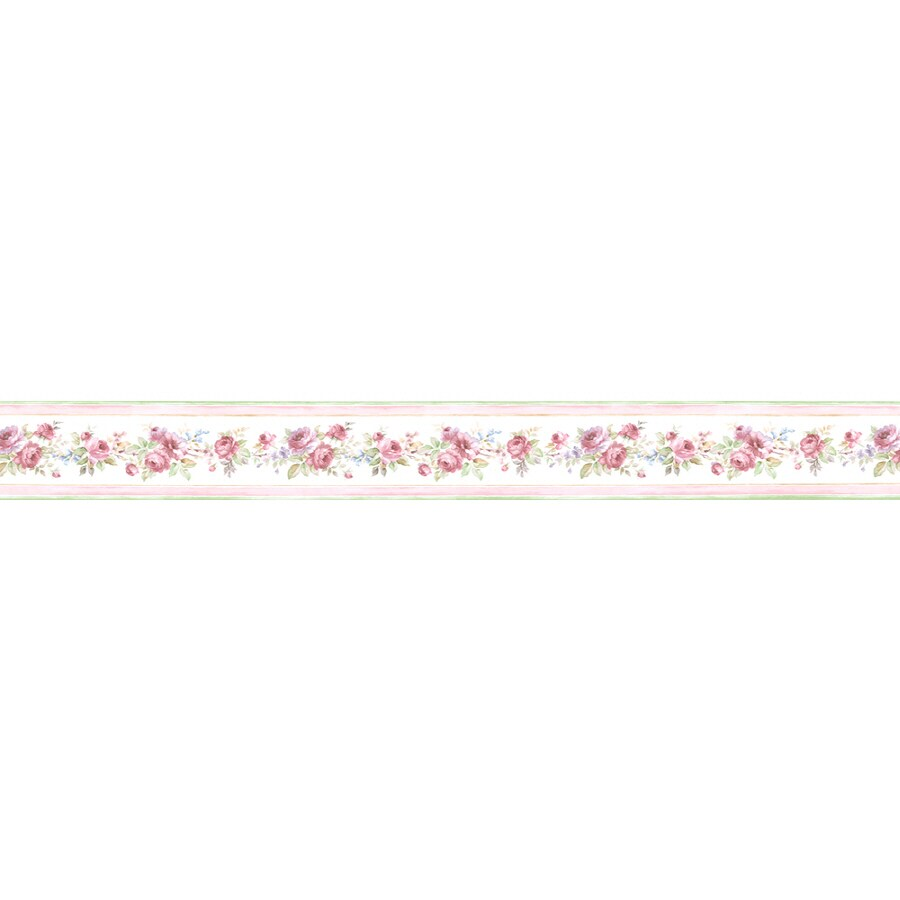 Shop norwall 3 5 in red prepasted wallpaper border at for Prepasted wallpaper