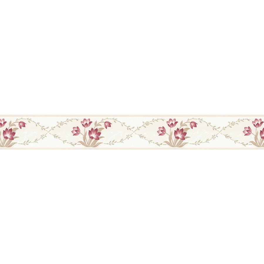 shop norwall red prepasted wallpaper border at