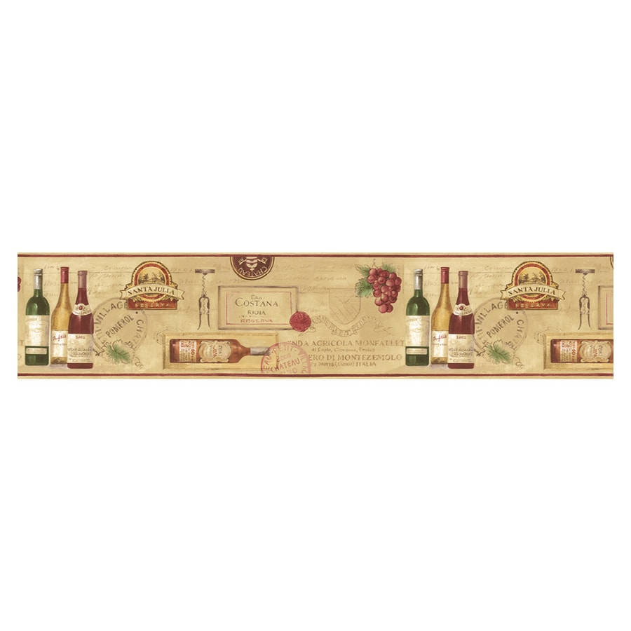Shop norwall 7 kitchen and bath 3 prepasted wallpaper for Bathroom border paper