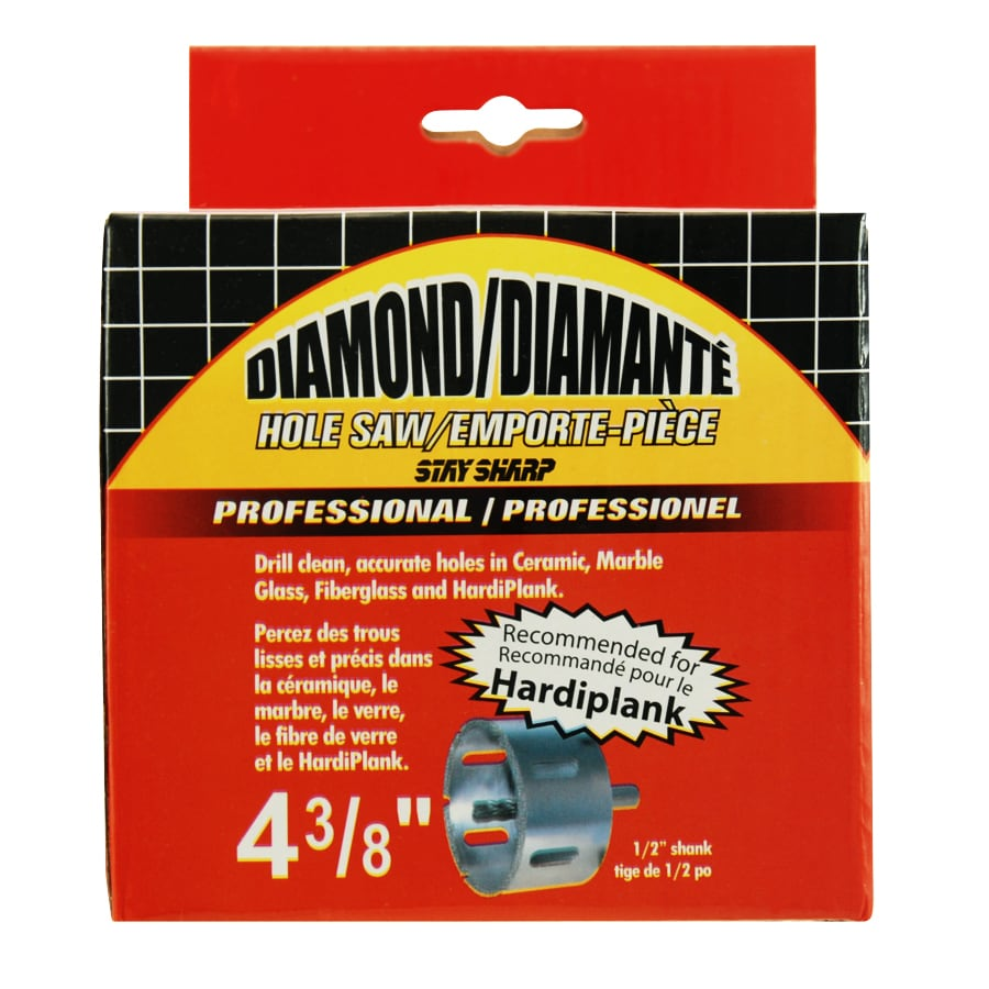 Exchange-A-Blade 4-3/8-in Diamond Non-Arbored Hole Saw