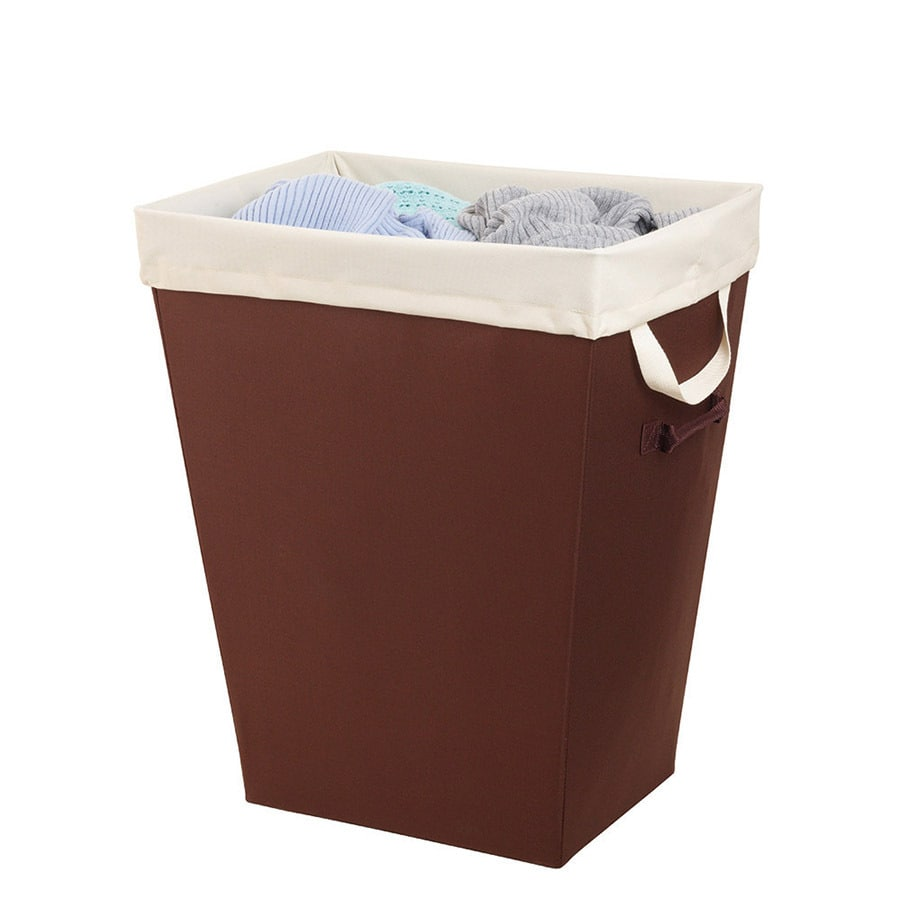 Style Selections 2.4-Bushels Mixed Materials Clothes Hamper