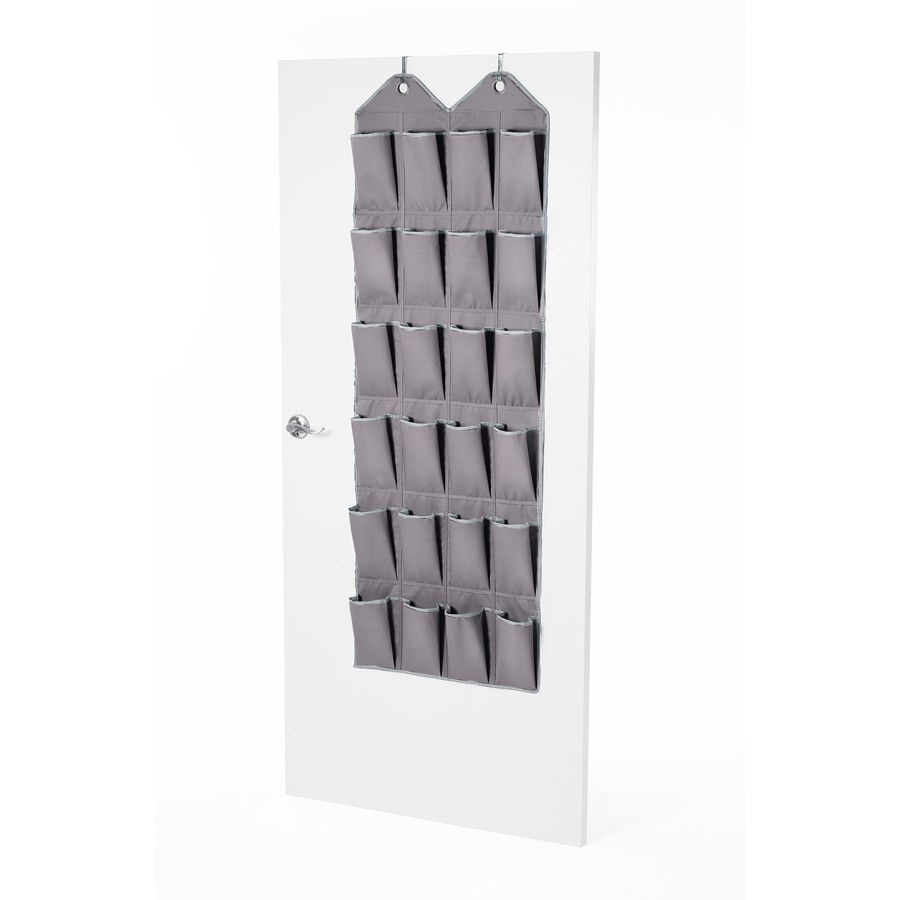 Style Selections 24 Pair Grey Fabric Over-the-Door Organizer