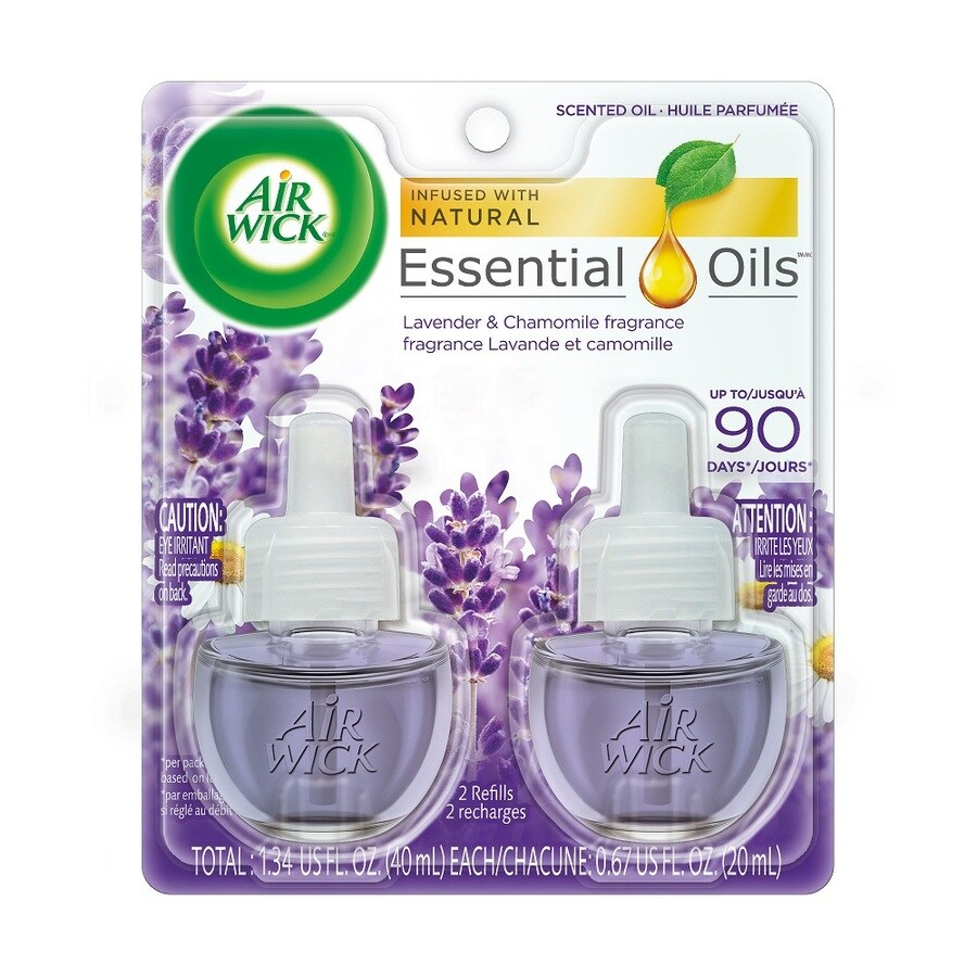 Airwick 2-Pack Lavender and Chomomile Plug-in Electric Air Freshener Refill