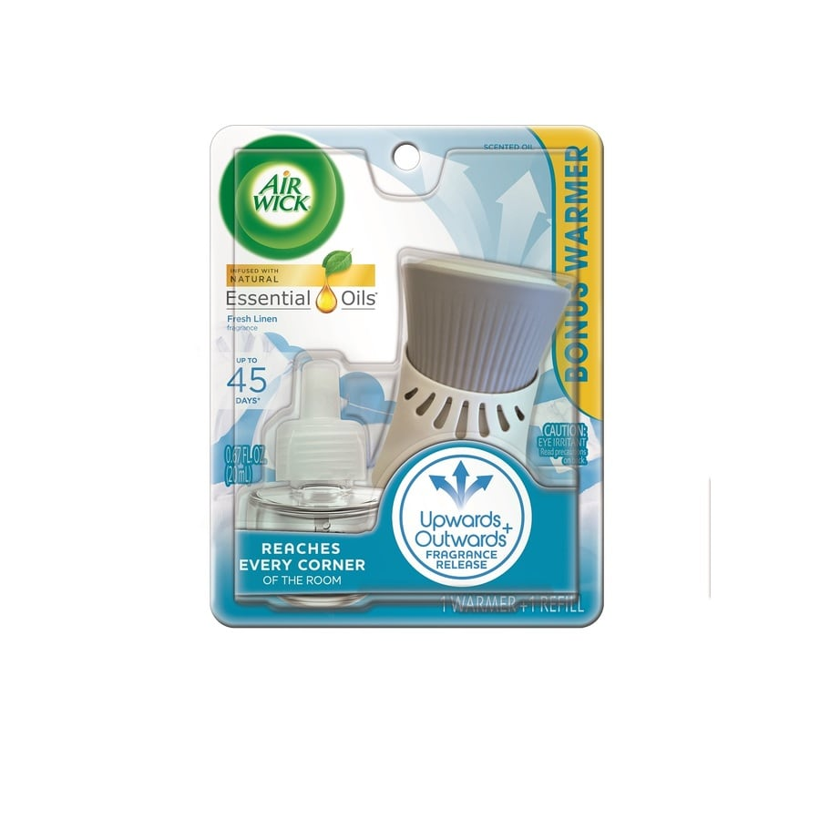 Shop airwick fresh linen plug in electric air freshener for Air freshener plug in