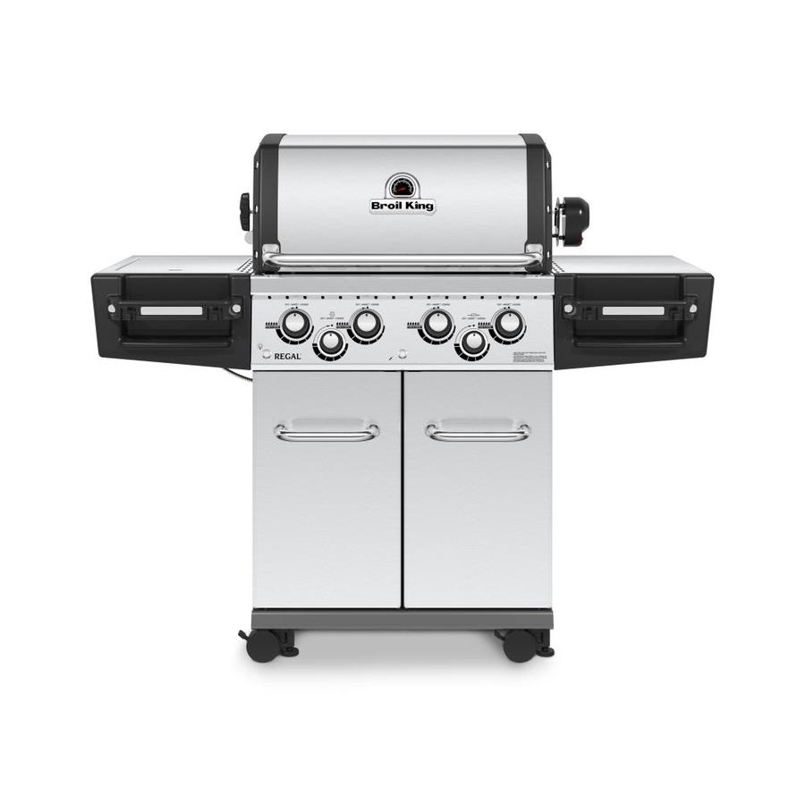 Broil King Regal Stainless Steel 4-Burner (50,000-BTU) Liquid Propane Gas Grill with Side and Rotisserie Burners