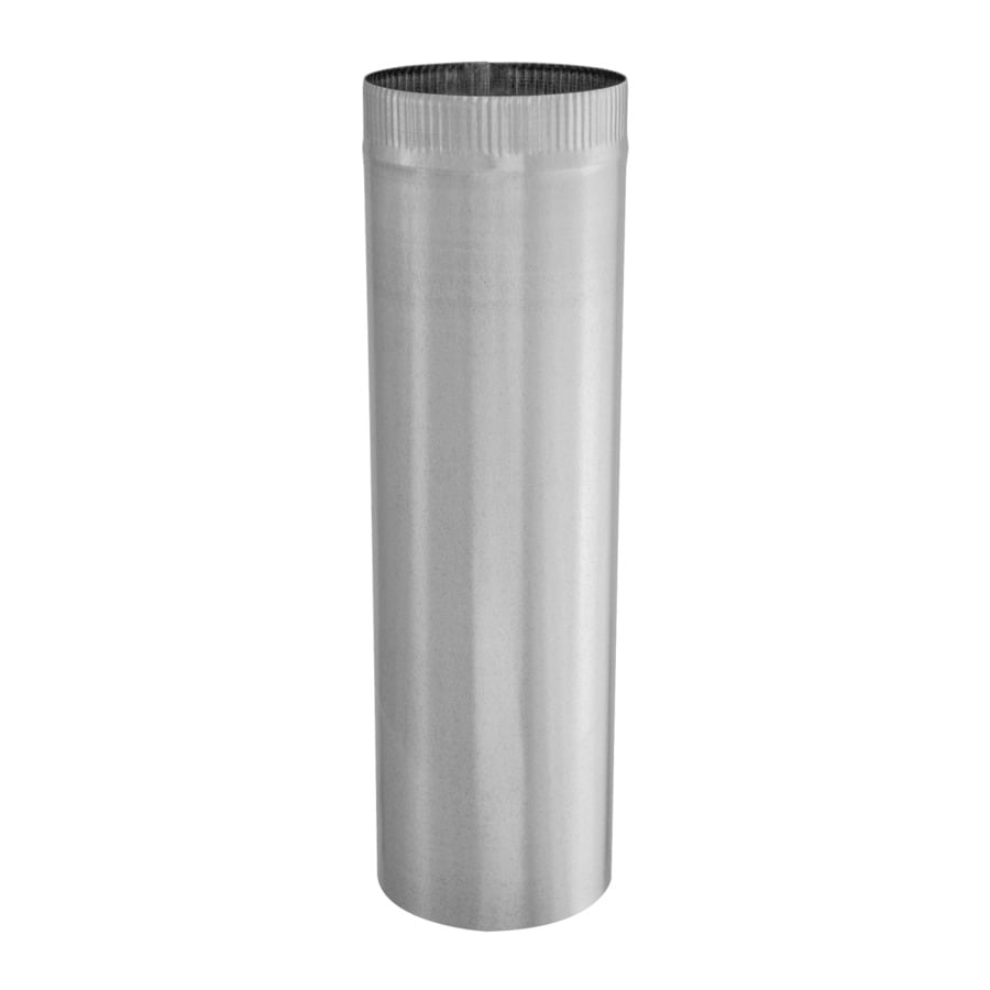 IMPERIAL 7-in x 24-in Galvanized Steel Round Duct Pipe
