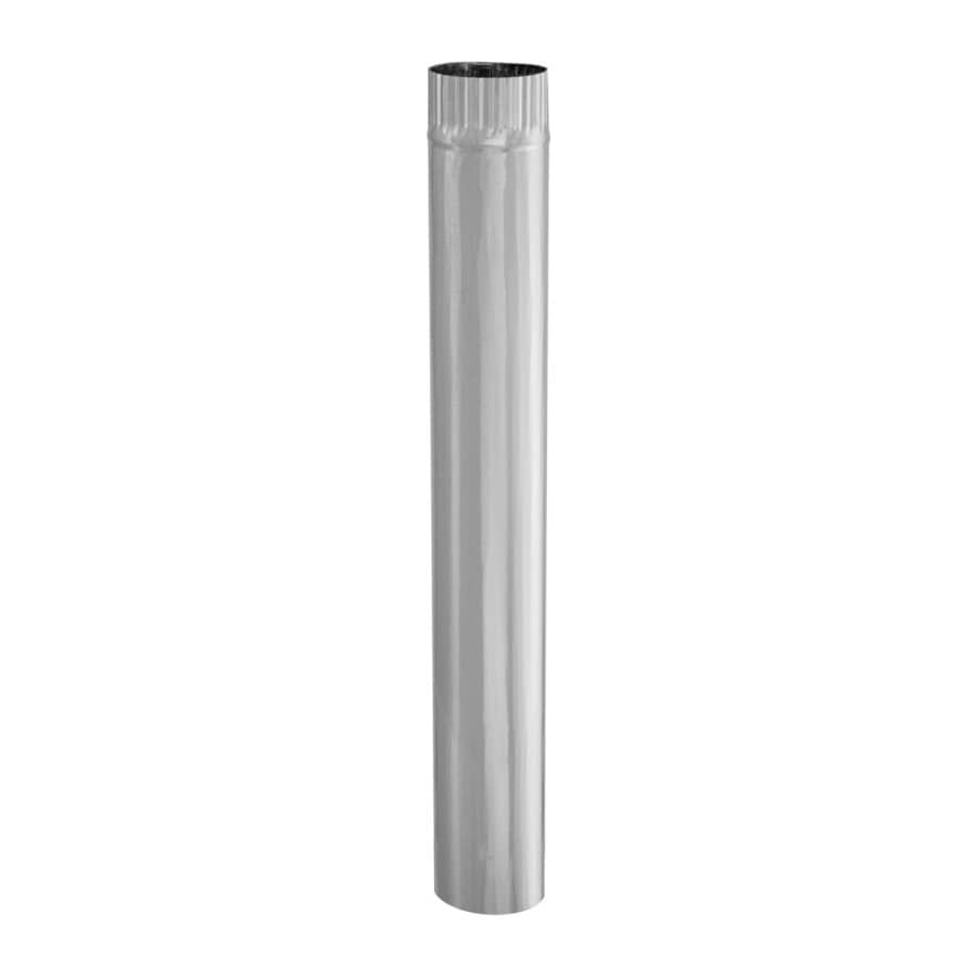 IMPERIAL 3-in x 24-in Galvanized Steel Round Duct Pipe