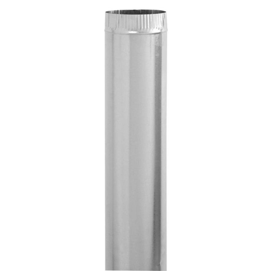 IMPERIAL 7-in x 60-in Galvanized Steel Round Duct Pipe