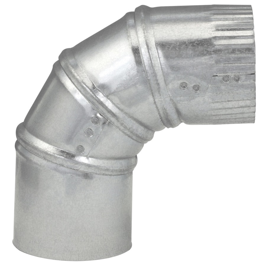 IMPERIAL 3-in x 3-in Galvanized Steel Round Duct Elbow