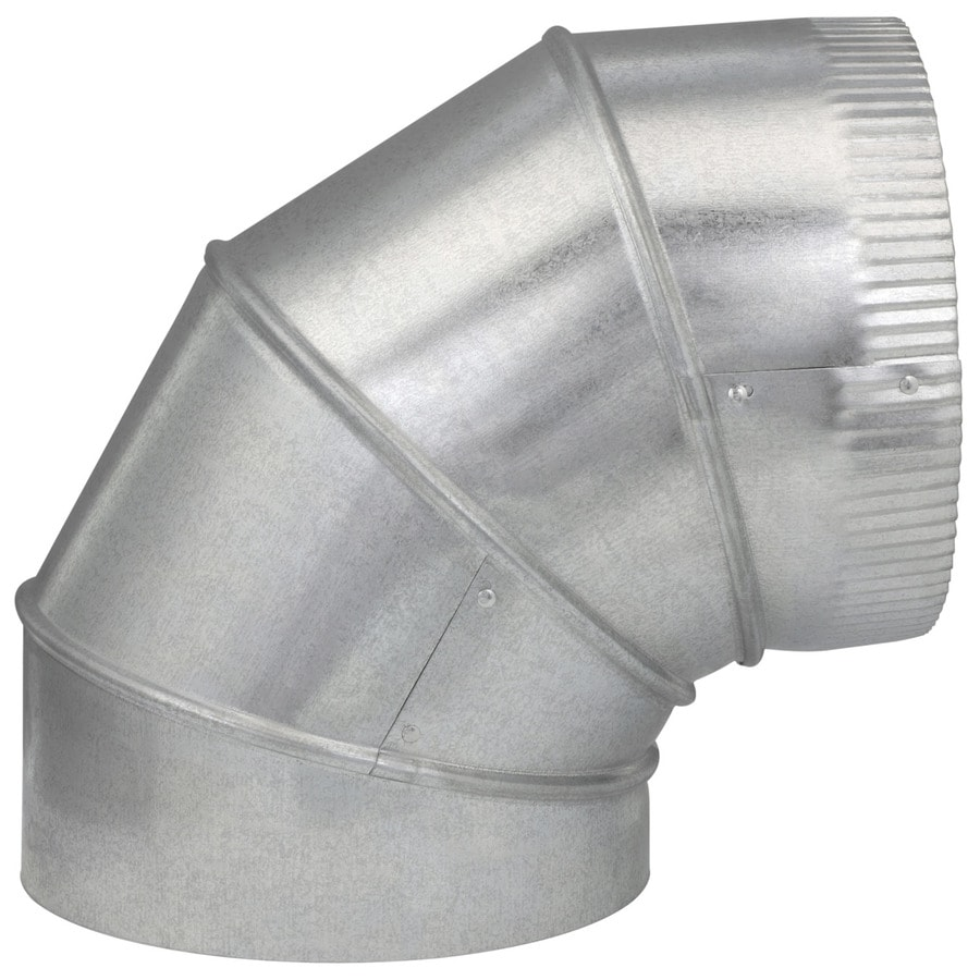 IMPERIAL 8-in x 8-in Galvanized Steel Round Duct Elbow