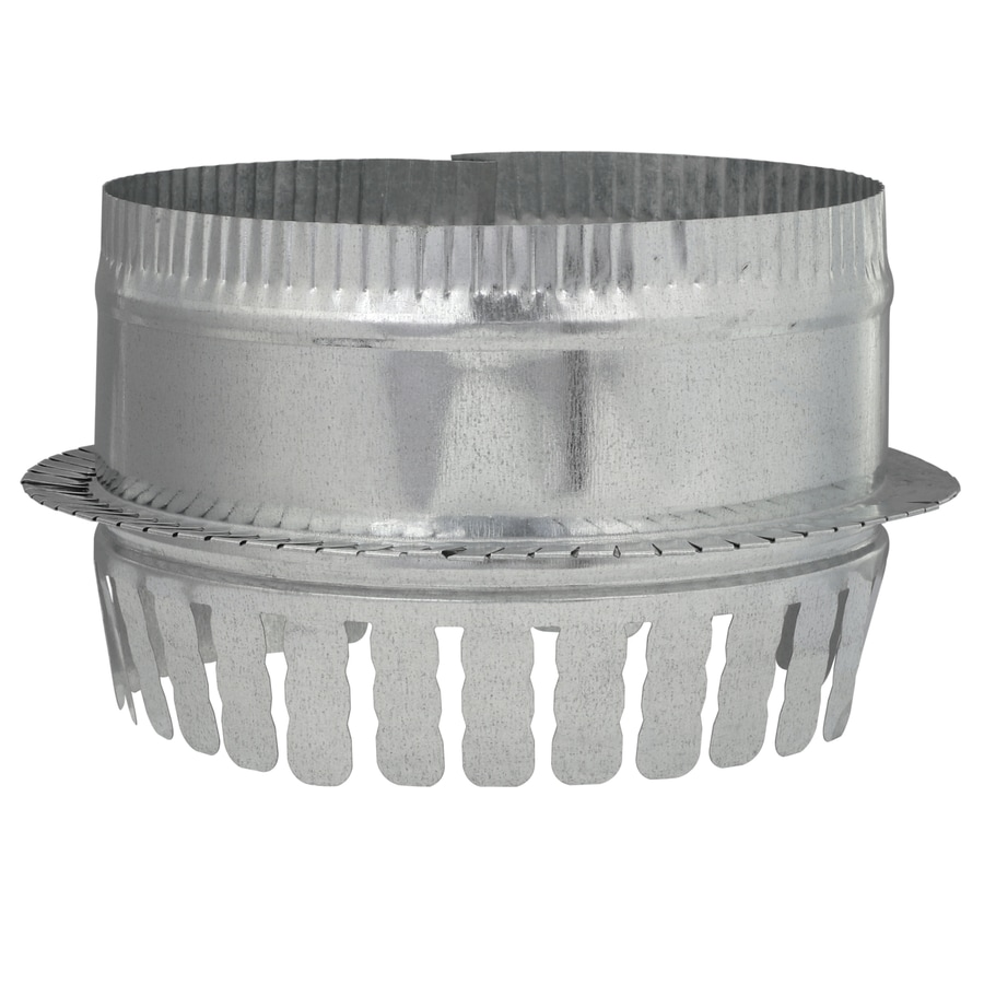 7 Duct Fitting Diameter Galvanized Steel Collar W//Damper 5 Duct Fitting Length