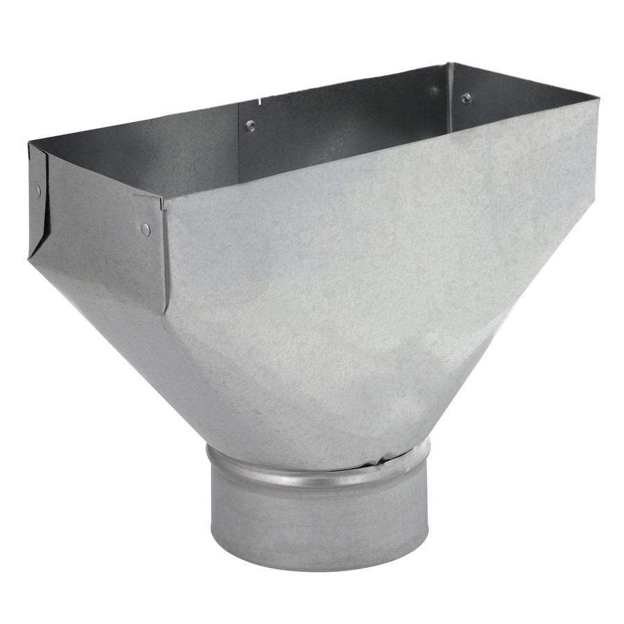 IMPERIAL 4-in x 4-in Galvanized Steel Straight Register Duct Boot