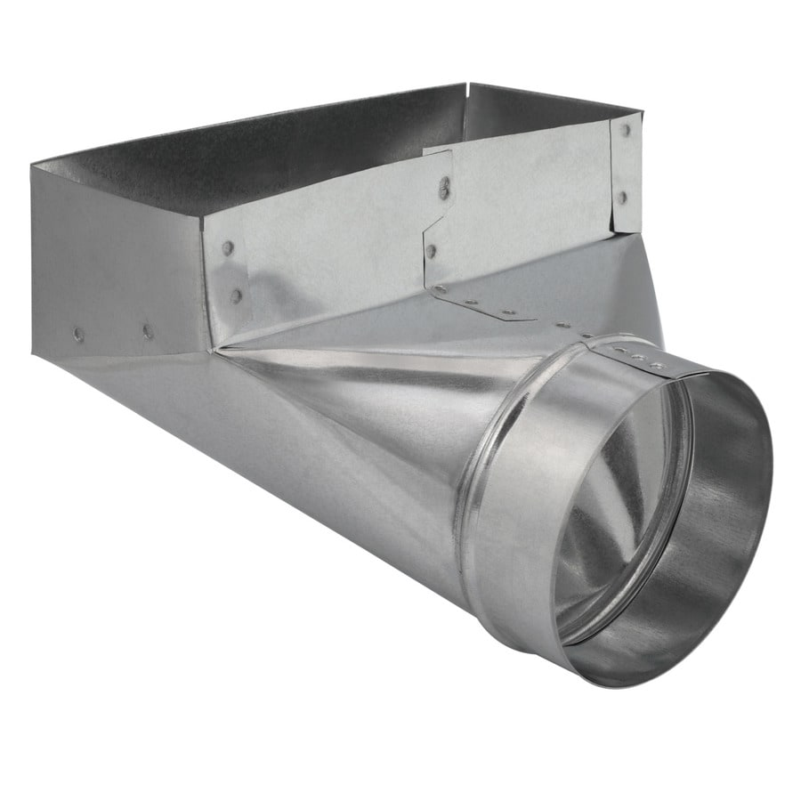 Imperial 10 In X 4 In X 6 In Galvanized Steel 90 Degree Register Duct Boot In The Duct Boots Department At Lowes Com