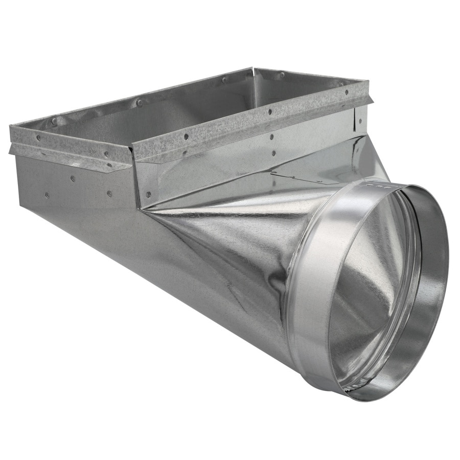 IMPERIAL 8-in x 6-in Galvanized Steel 90-Degree Register Duct Boot