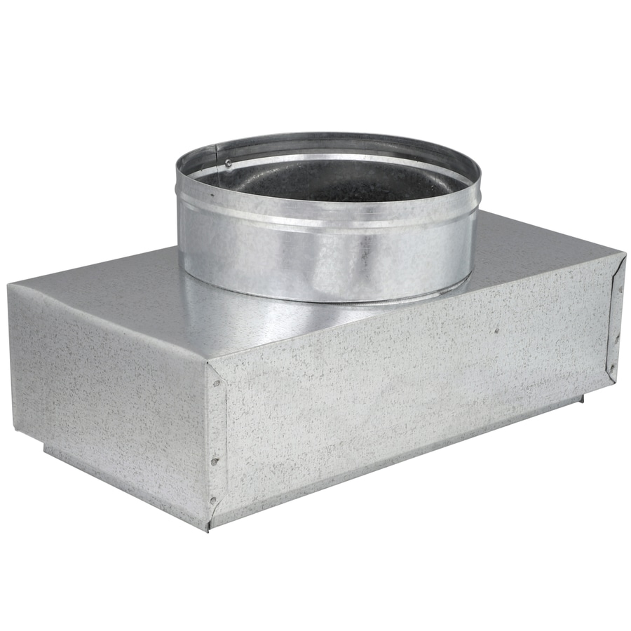 IMPERIAL 7-in x 6-in Insulated Galvanized Steel Straight Register Duct Boot