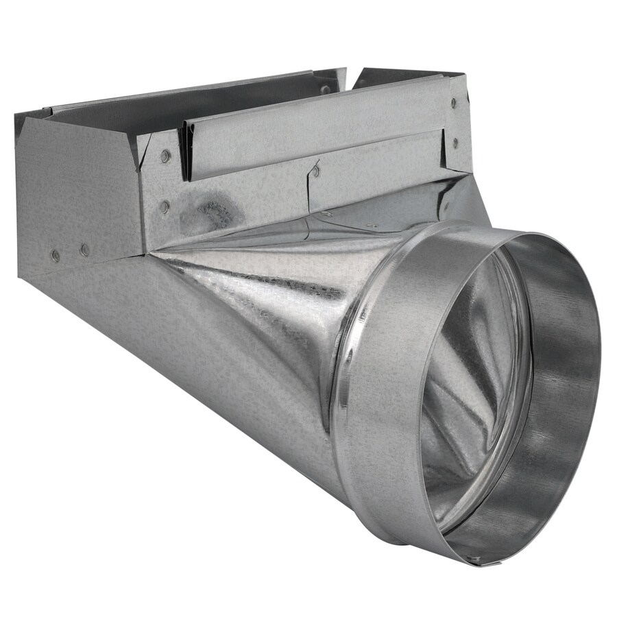 IMPERIAL 6-in x 3.25-in Galvanized Steel 90-Degree Stack Duct Boot