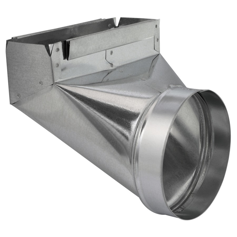 IMPERIAL 7-in x 3.25-in Galvanized Steel 90-Degree Stack Duct Boot