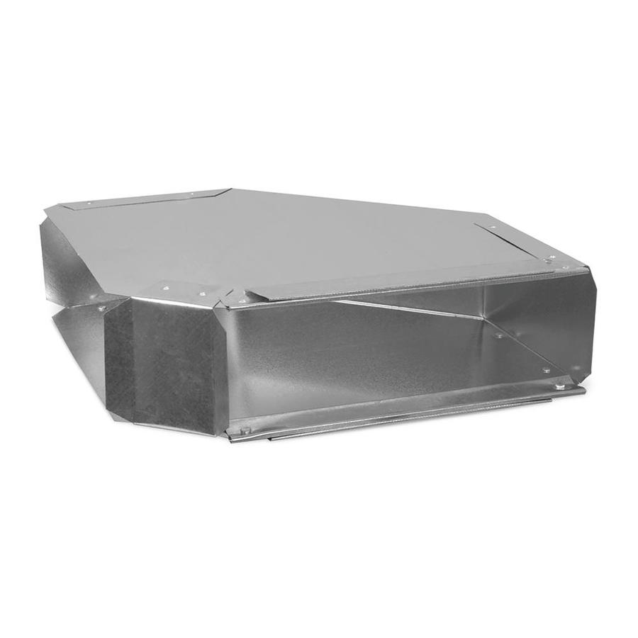 IMPERIAL 3.25-in x 10-in Galvanized Steel Rectangle Duct Elbow