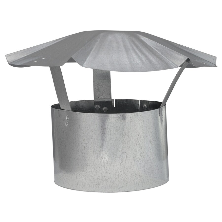 IMPERIAL 6-in Dia Galvanized Steel Rain Cap