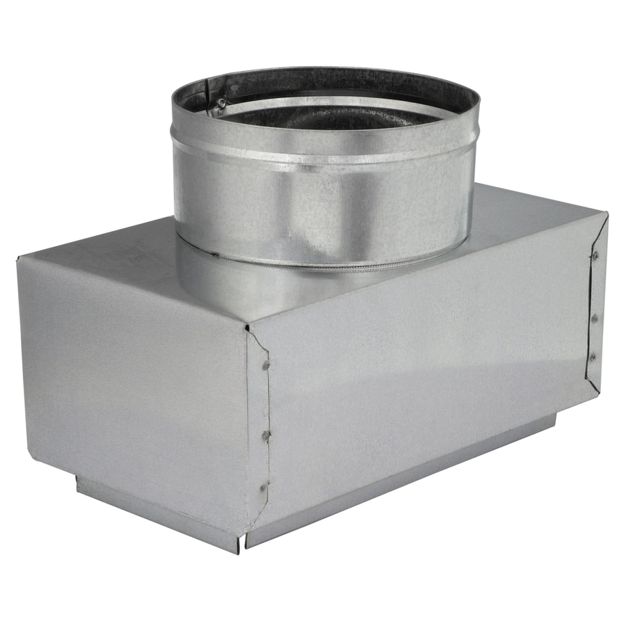 IMPERIAL 5-in x 4-in Insulated Galvanized Steel Straight Register Duct Boot