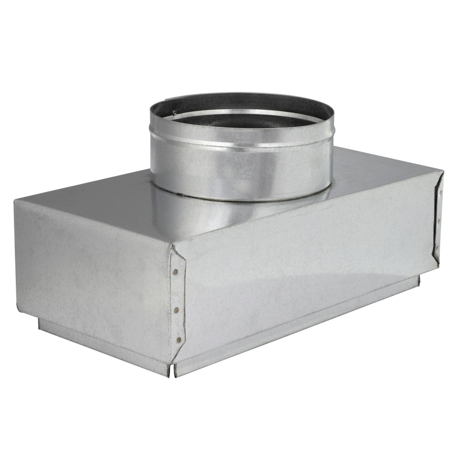 IMPERIAL 6-in x 6-in Insulated Galvanized Steel Straight Register Duct Boot