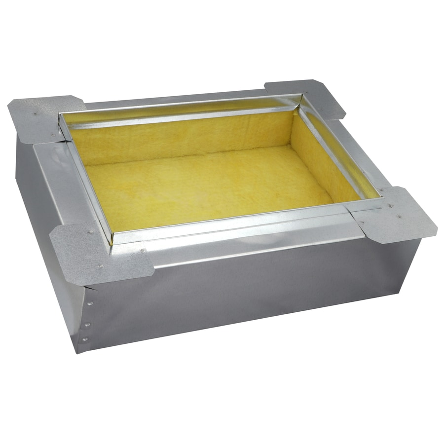 IMPERIAL 8-in Insulated Galvanized Steel Ductboard Register Duct Boot