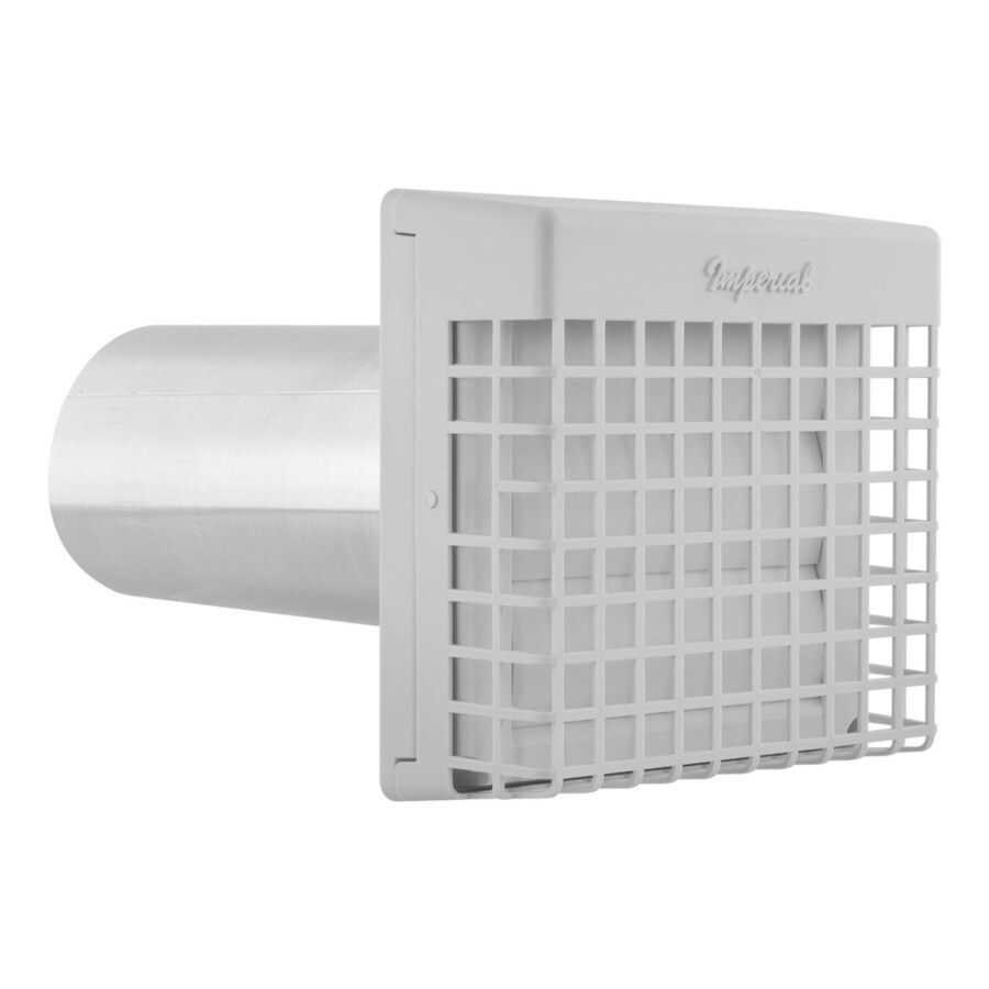 IMPERIAL 4-in Dia Plastic Louvered with Guard Dryer Vent Hood
