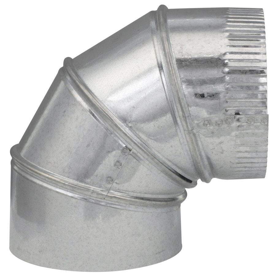 IMPERIAL 6-in x 6-in Galvanized Steel Round Duct Elbow