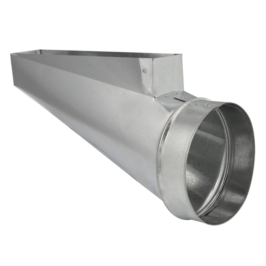 IMPERIAL 6-in x 2.25-in Galvanized Steel End Register Duct Boot