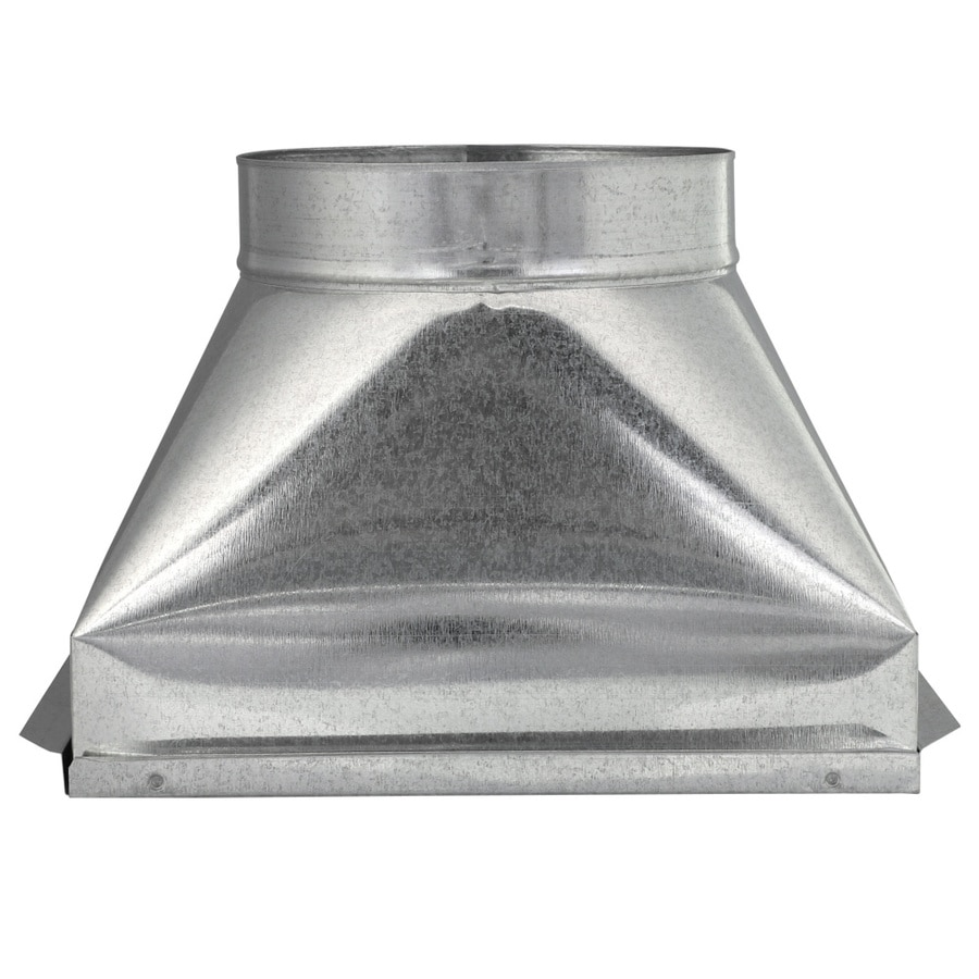 IMPERIAL 8-in x 12-in Galvanized Steel Straight Register Duct Boot