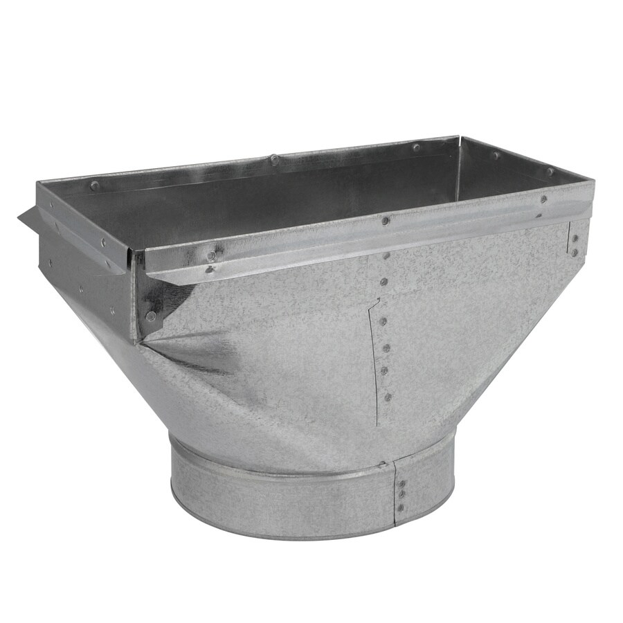 IMPERIAL 8-in x 6-in Galvanized Steel Straight Register Duct Boot