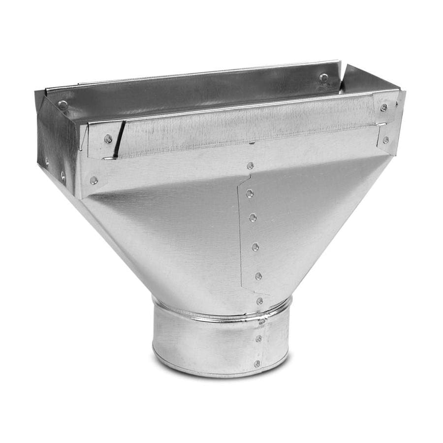 IMPERIAL 5-in x 3.25-in Galvanized Steel Straight Stack Duct Boot