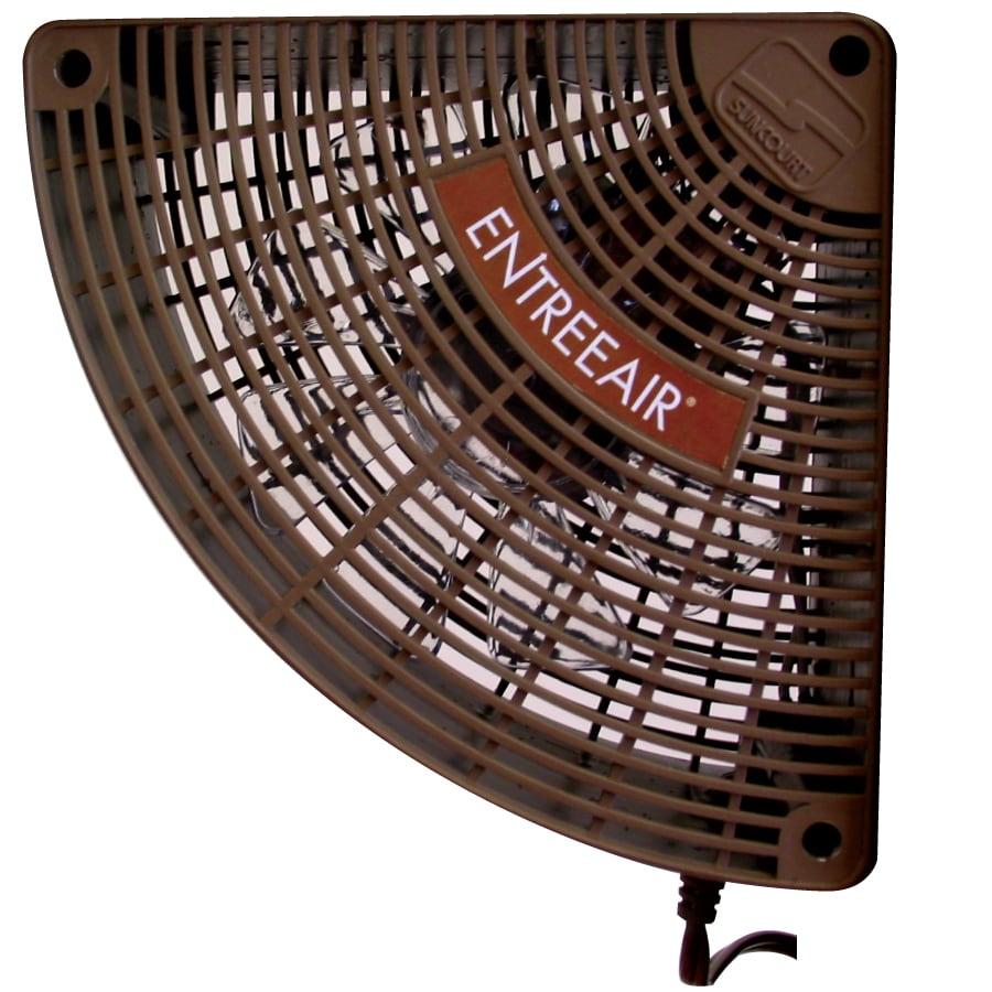 SUNCOURT Entree Air 5.25-in Brown Plastic Door Frame Fan