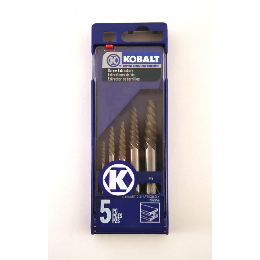 Kobalt Kobalt 5Pc Screw Extractor #1-#5