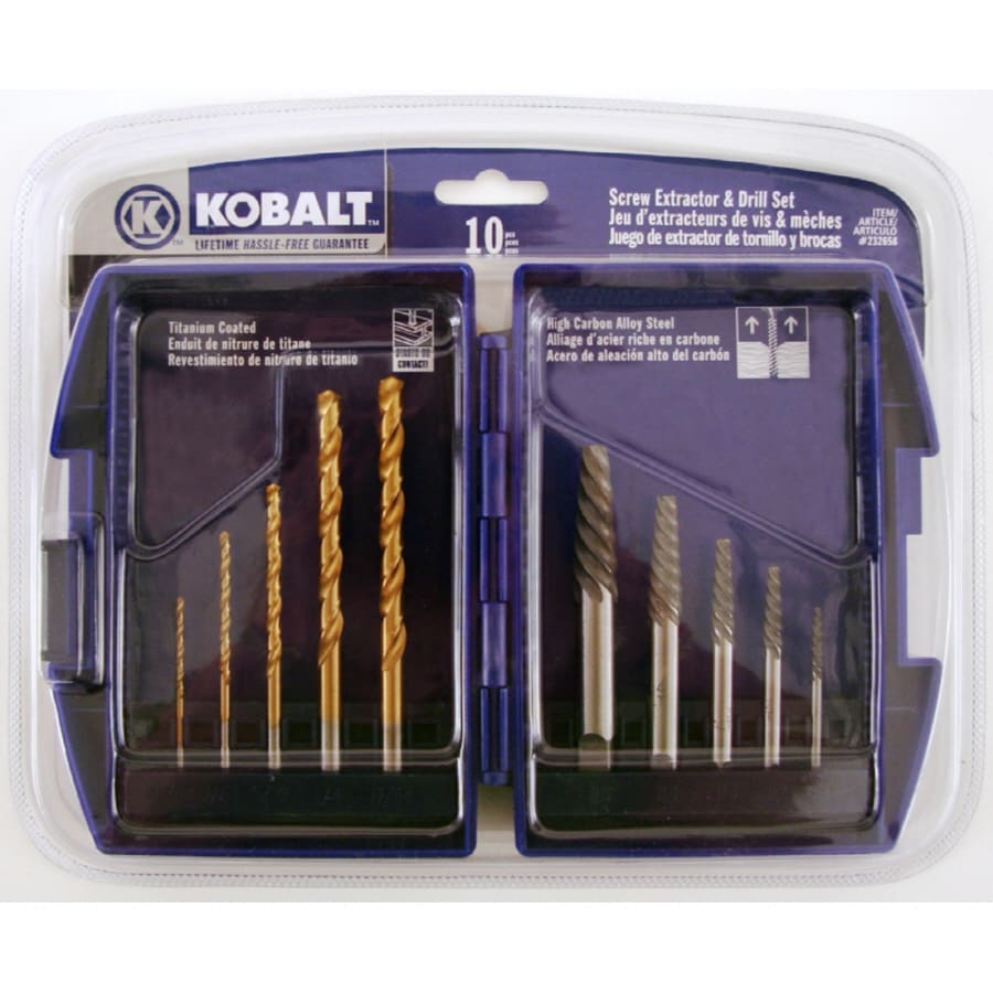 Kobalt Kobalt 10Pc Scr Extractor Drill Set