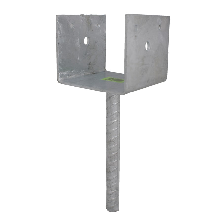 USP Steel Hot-Dipped Galvanized Post Base (Common: 4-in; Actual: 3.5-in)