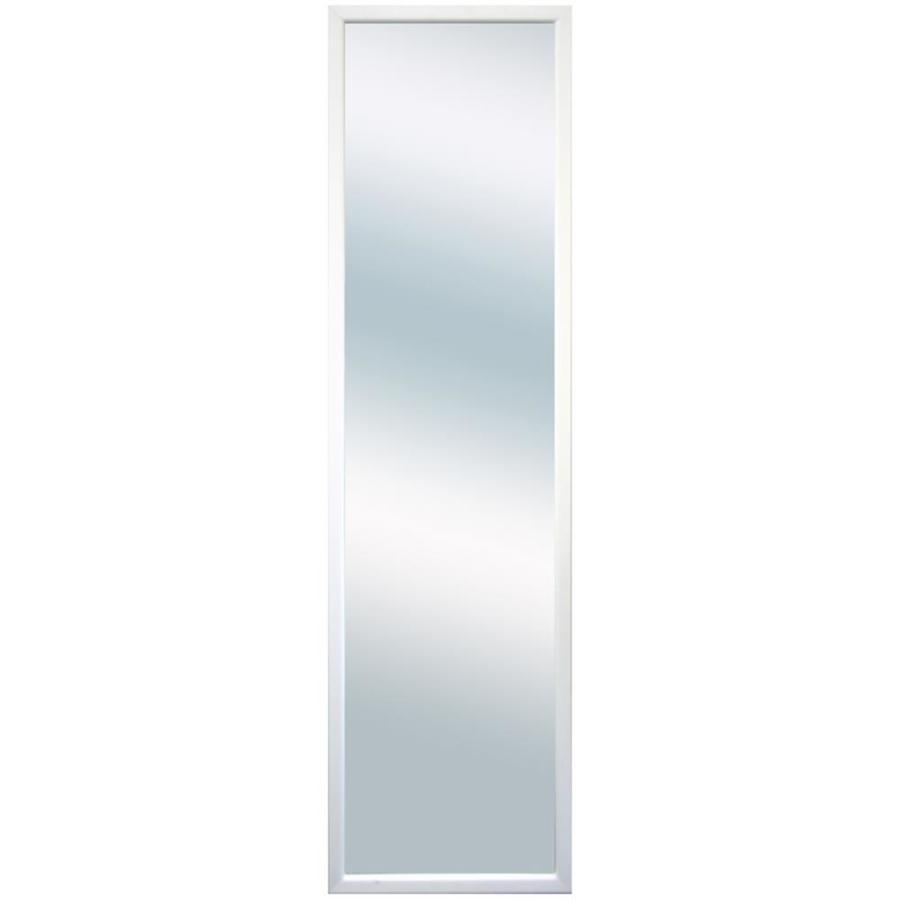 White Rectangle Framed Wall Mirror