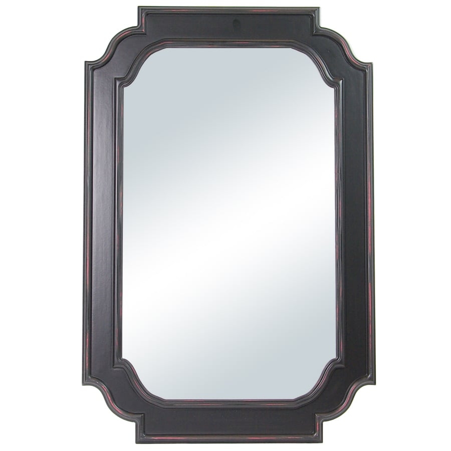 Shop columbia frame rectangle framed wall mirror at for Framed wall mirrors
