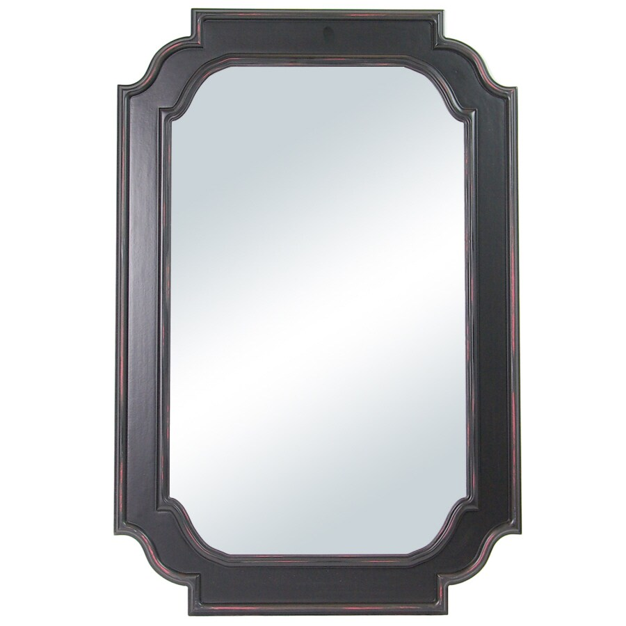 Shop columbia frame rectangle framed wall mirror at for Mirror framed wall mirror